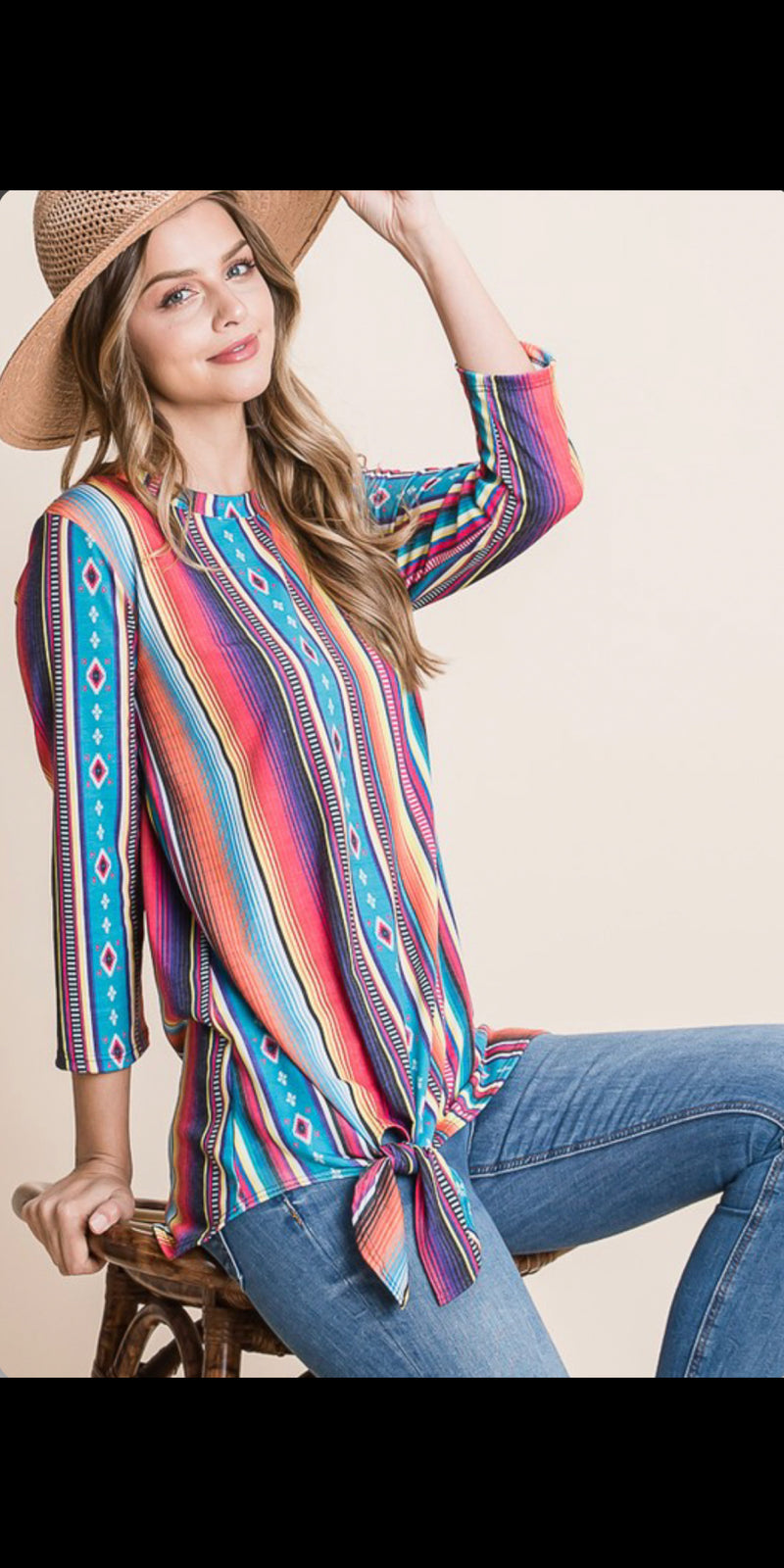 Simple Love Serape Top - Also in Plus Size