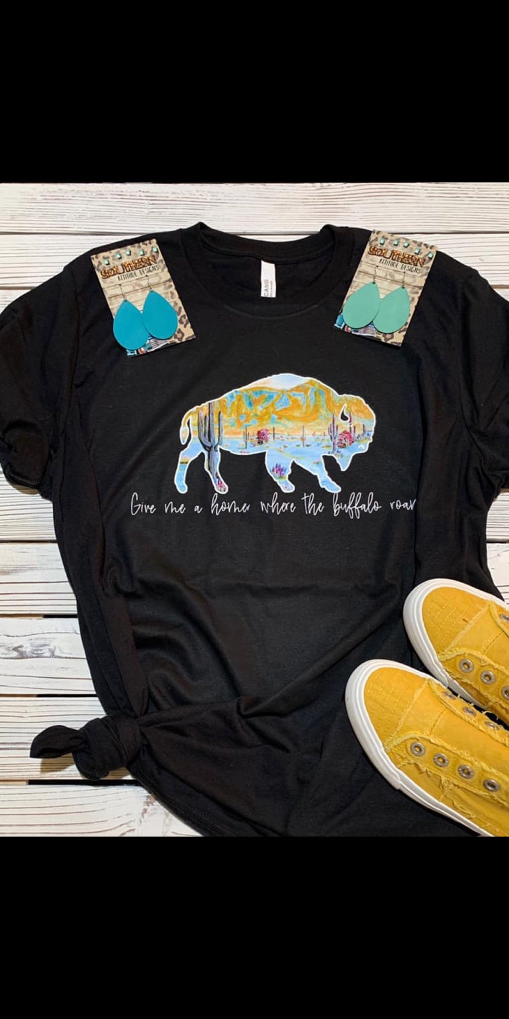 Where the Buffalo Roam Top - Also in Plus Size