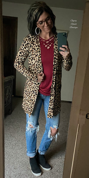 Aurora Leopard Cardigan - Also in Plus Size