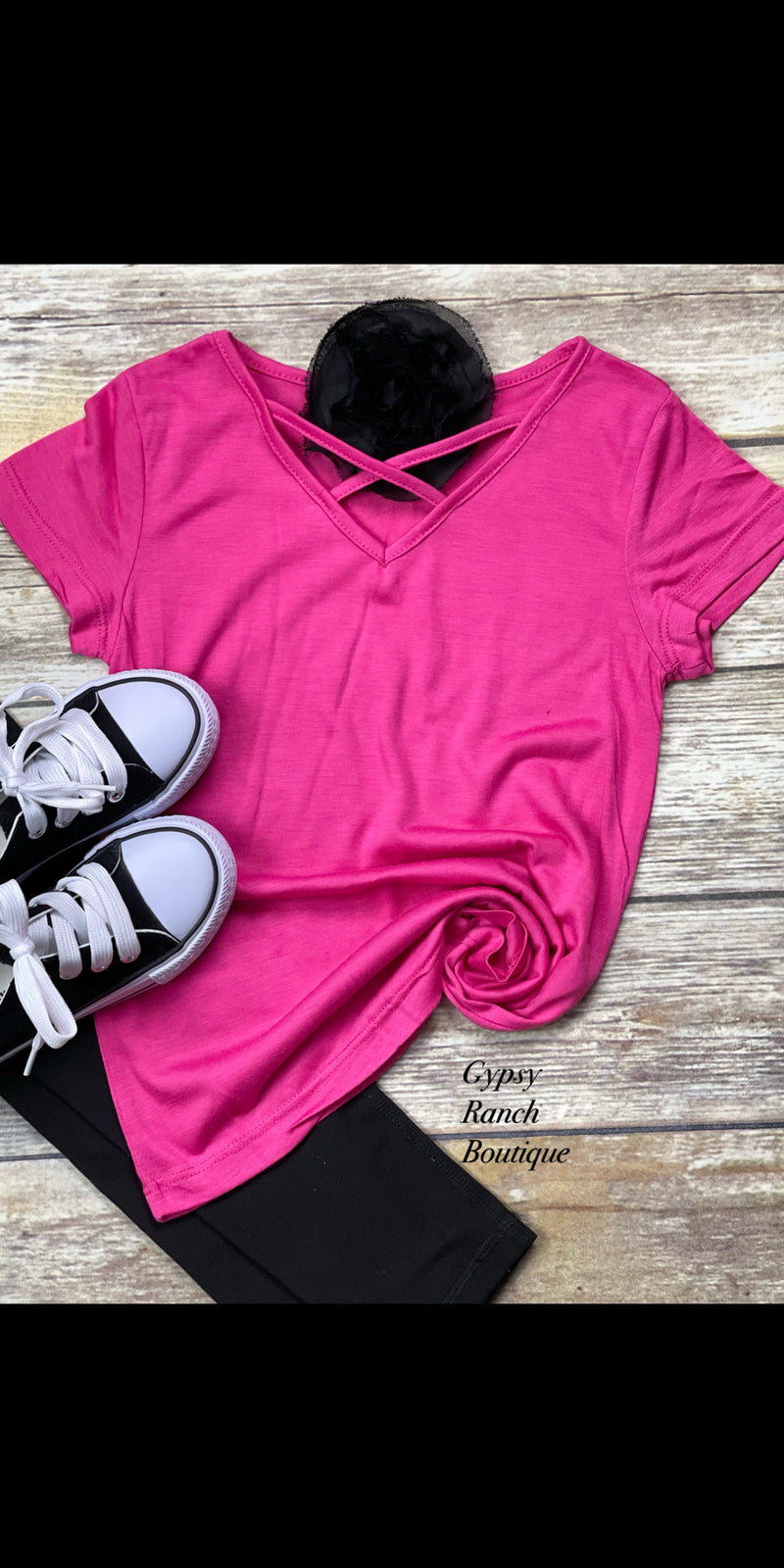 Kids Pink Criss Cross Top