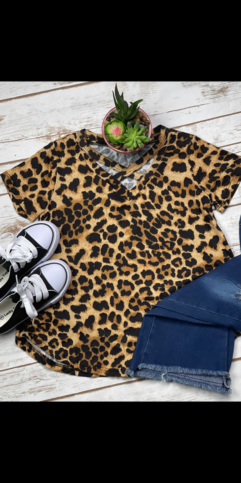 Kerrville Leopard Kids Top