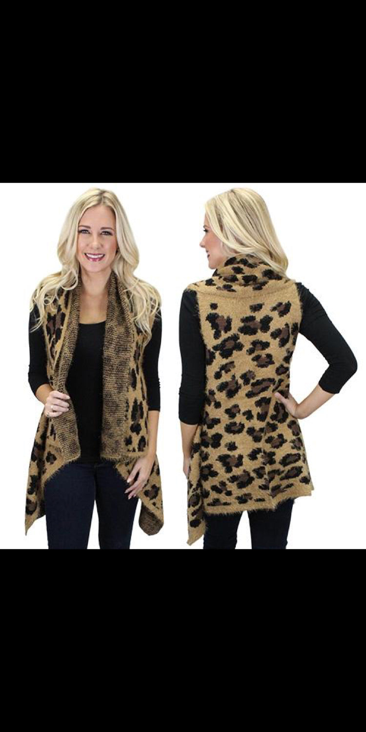 Lambert Leopard Vest - Also in Plus Size
