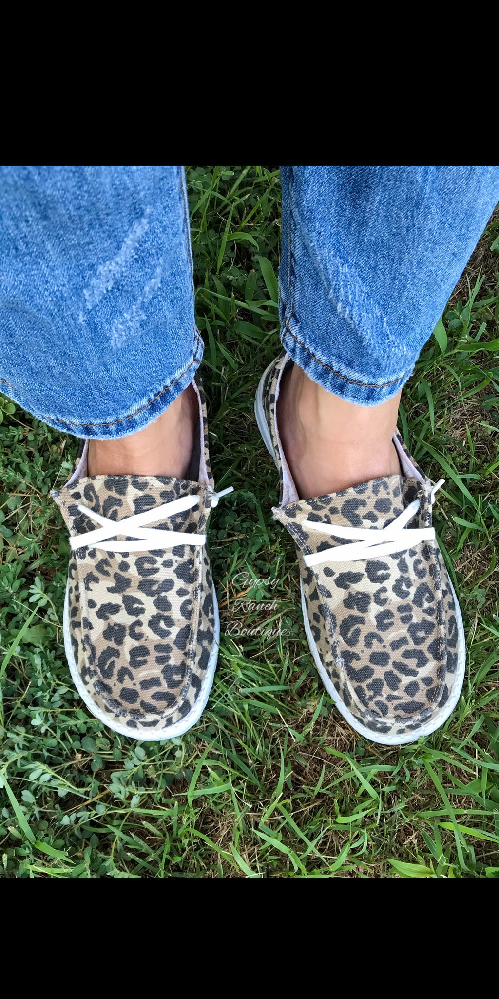 Gypsy Jazz LEOPARD Slip On Shoes