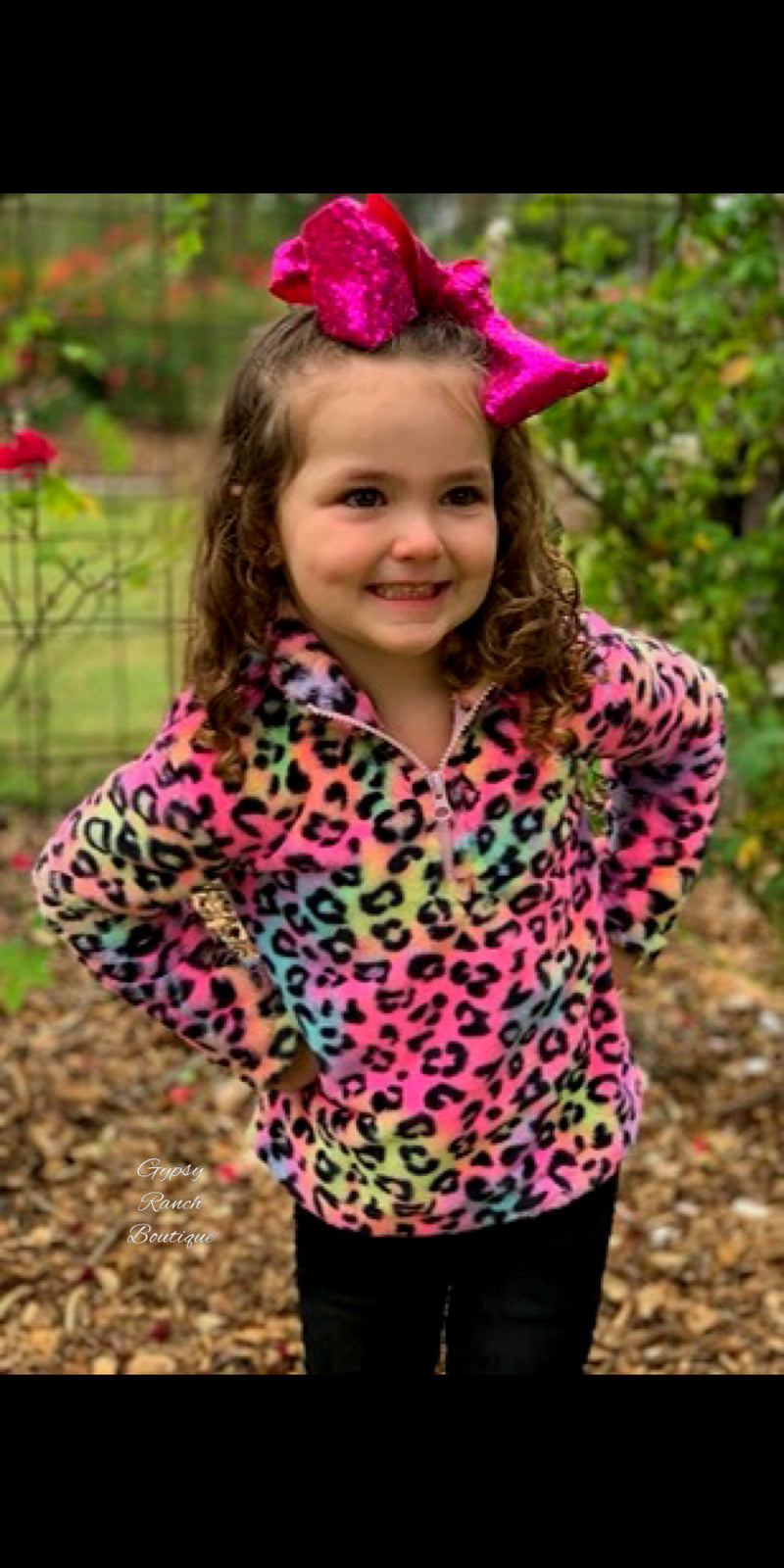Kids Neon Terrace Leopard Top