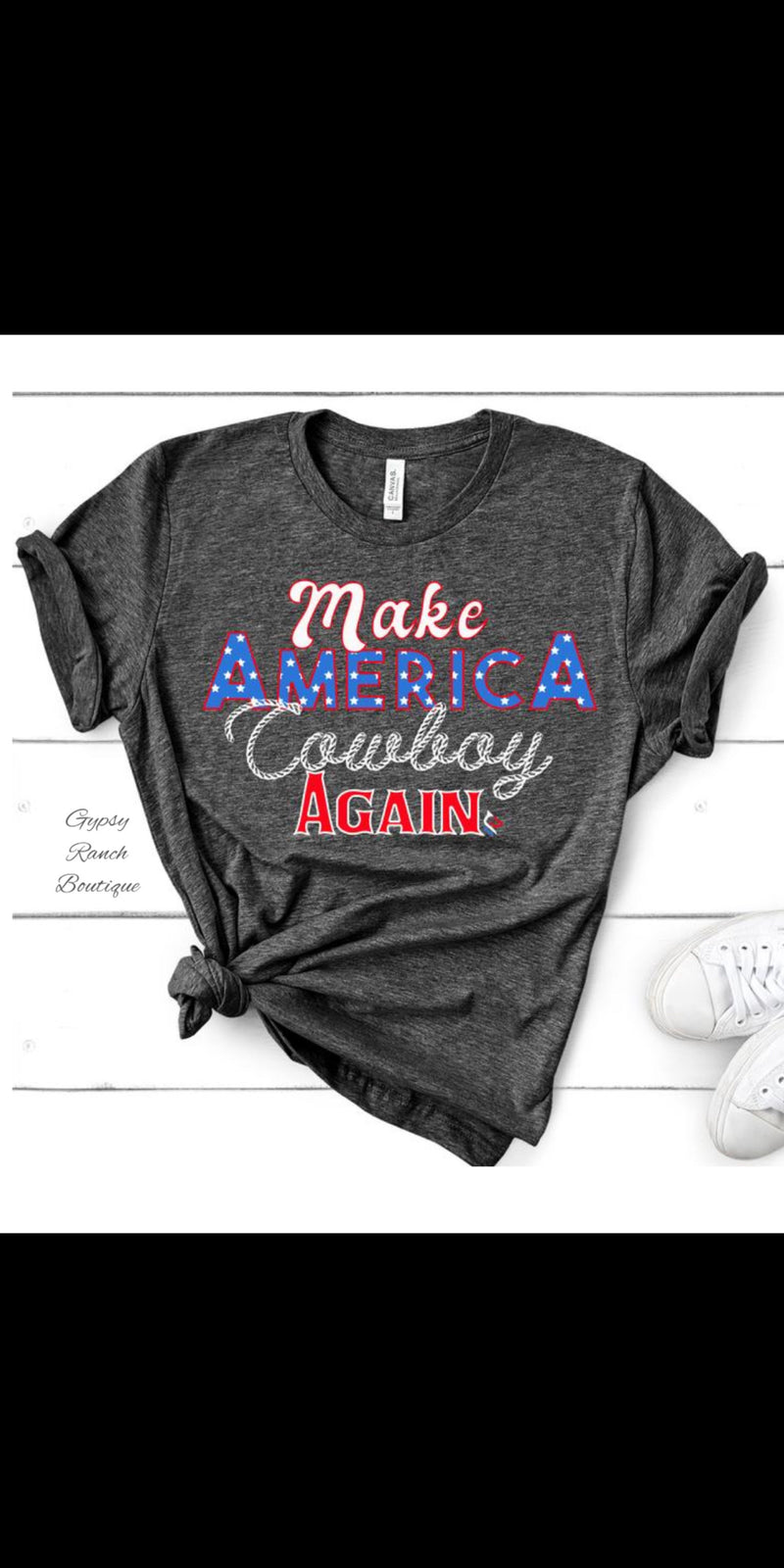 Make America Cowboy Again Top - Also in Plus Size