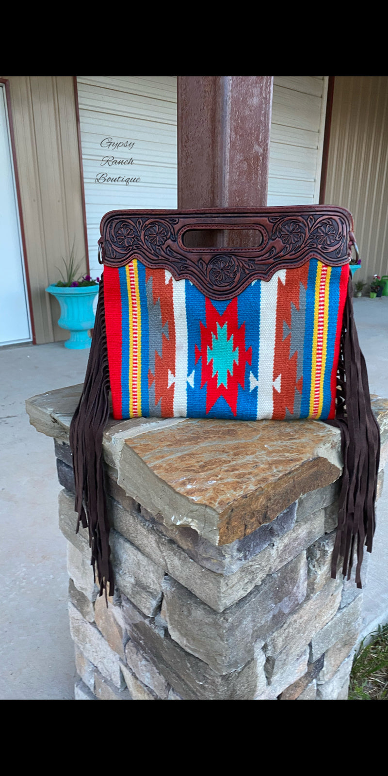 Amarillo By Morning Aztec Fringe Purse