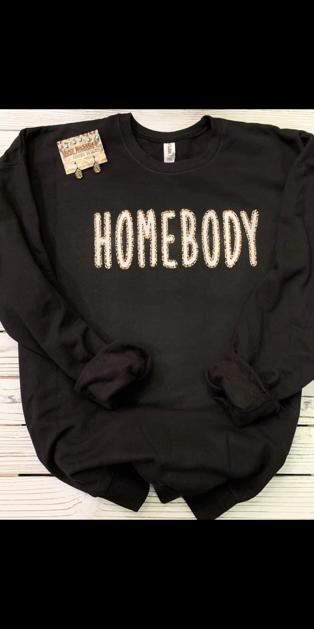 Homebody Leopard Sweatshirt - Also in Plus Size