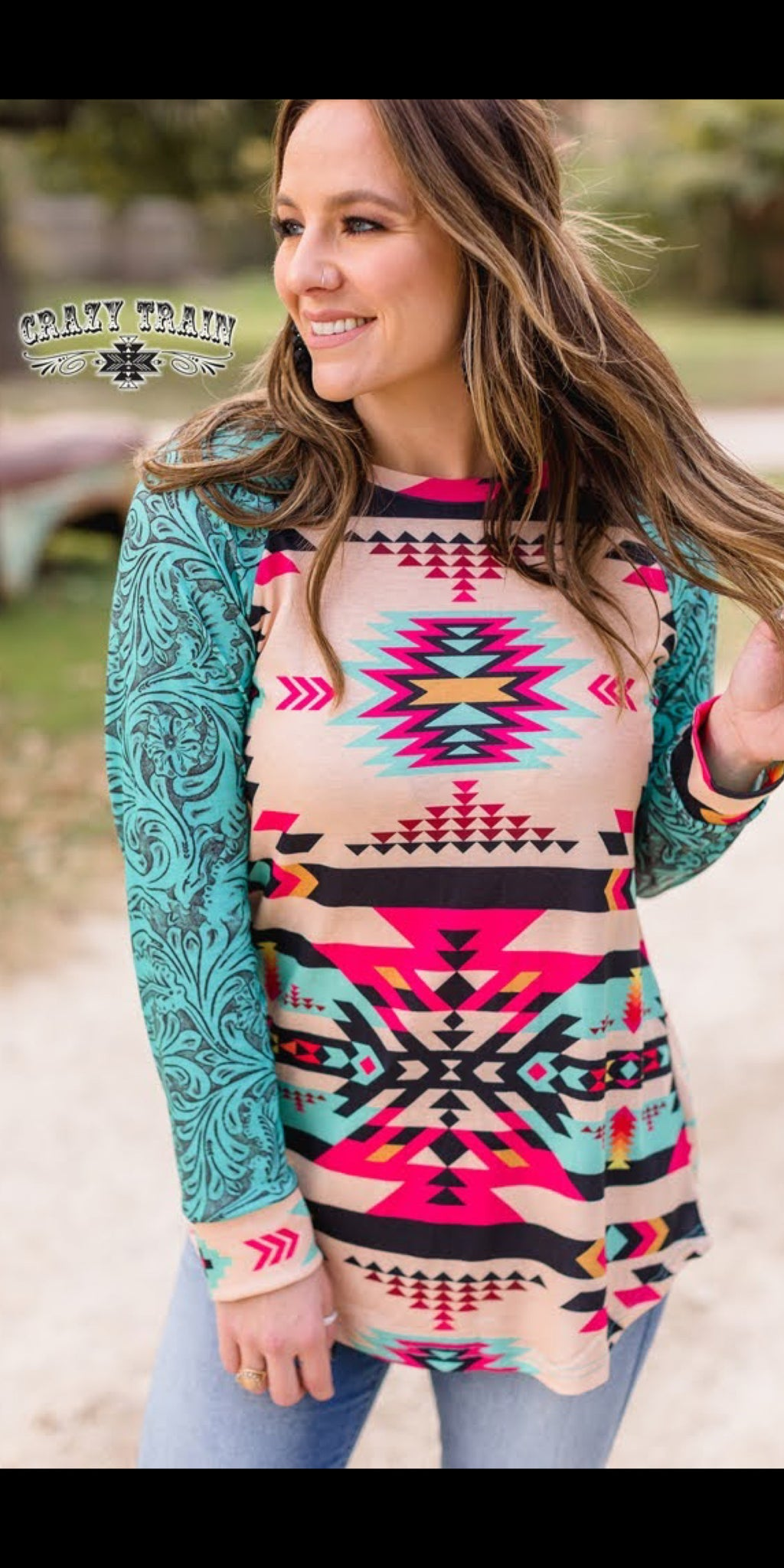 Neon Nation Tooled Top - Also in Plus Size