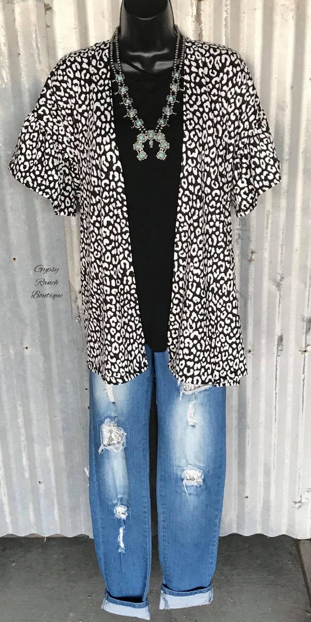 Halo Leopard Cardigan - Also in Plus Size