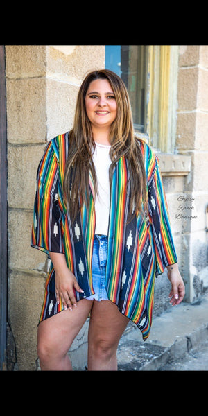 Restless Dreamer Aztec Serape Cardigan  - Also in Plus Size