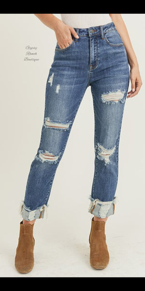 Aspen Distressed Jeans - Also in Plus Size