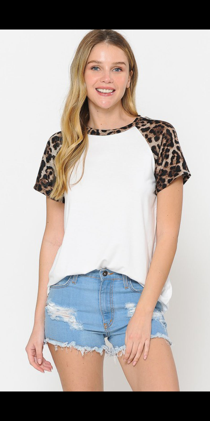 Studio Leopard Stripe Top - Also in Plus Size