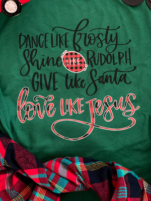 Give Like Santa Love Like Jesus Top - Also in Plus Size