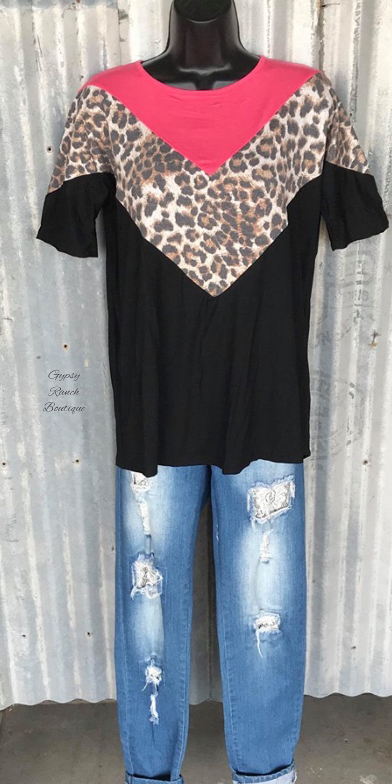 Fayetteville Leopard Top - Also in Plus Size