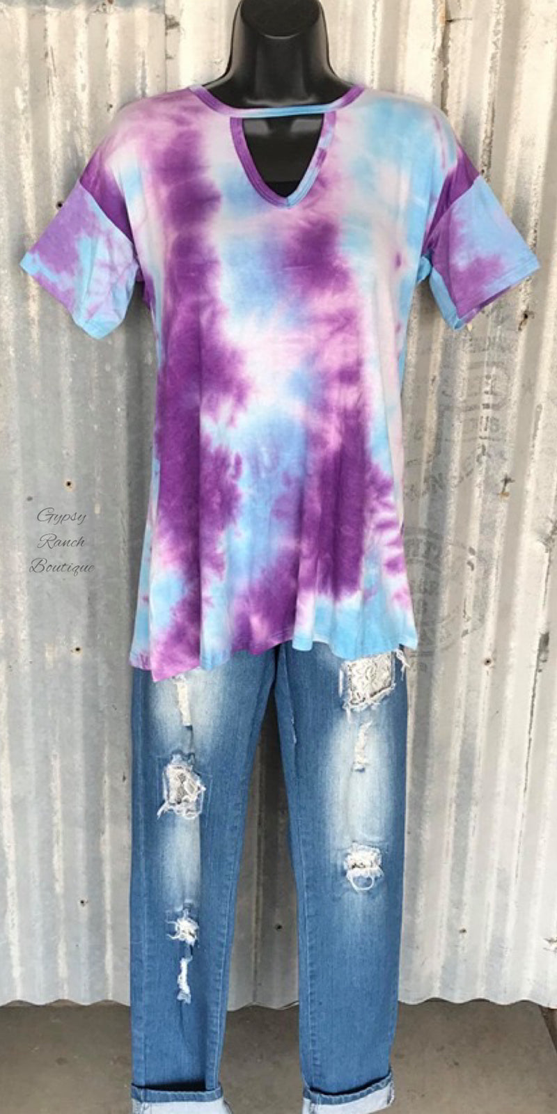 The Malone Purple Tye Dye Top - Also in Plus Size