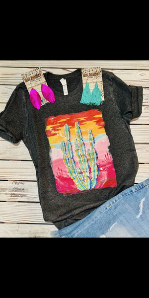 Desert Dreamin Cactus Top - Also in Plus Size
