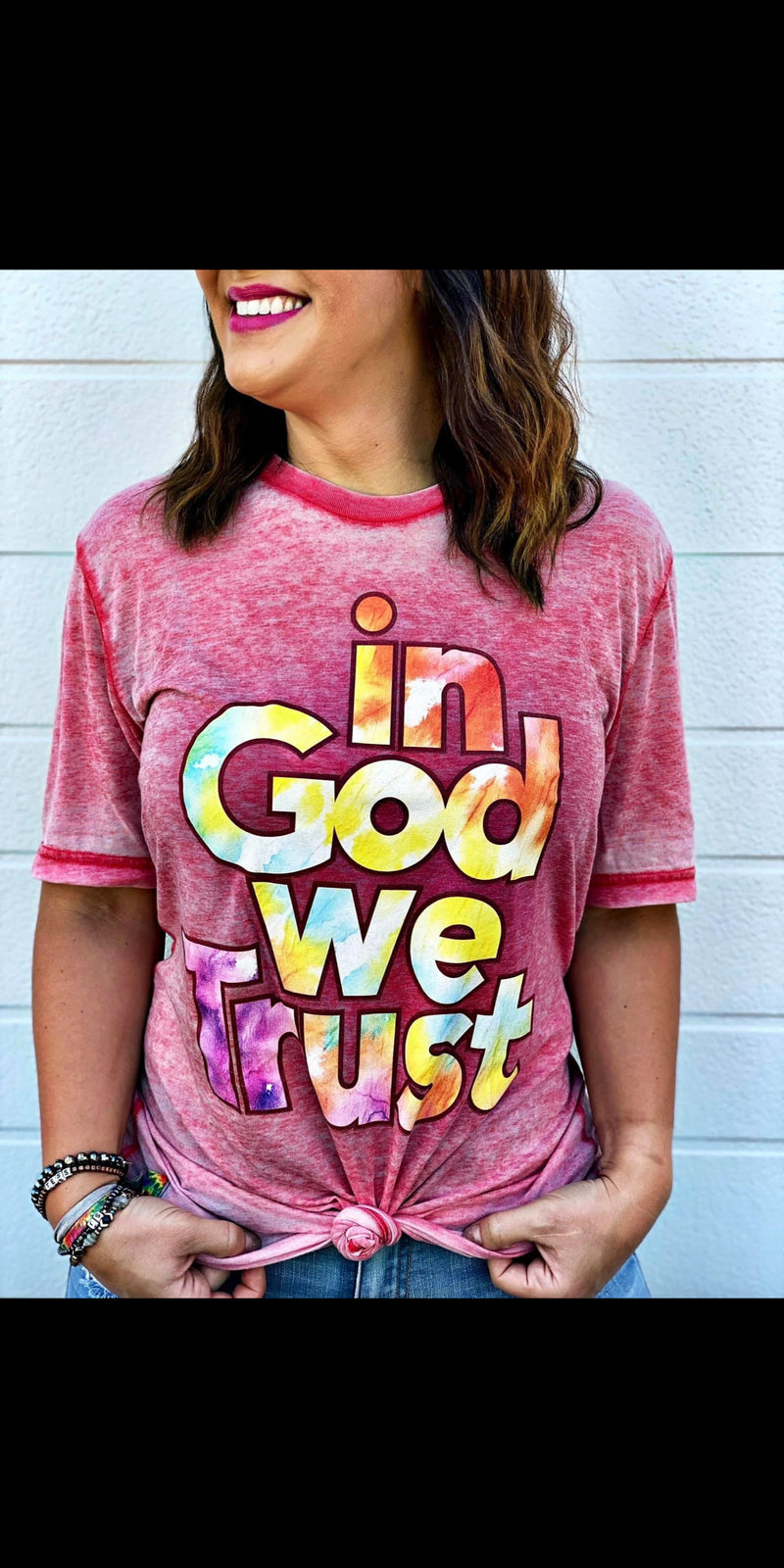 In God We Trust Top - Also in Plus Size