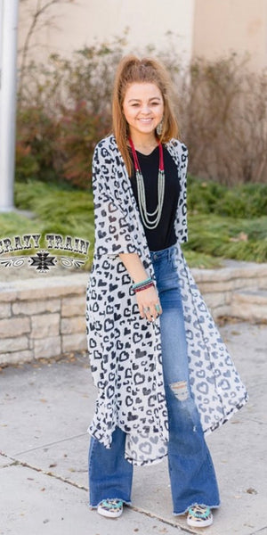 Leopard Love Duster Caridgan - Also in Plus Size