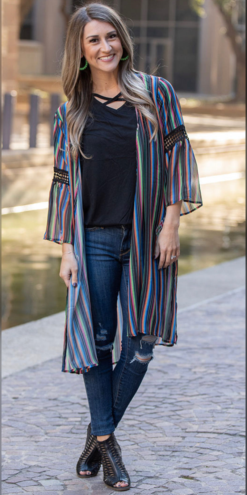 Riding Free Serape Print Kimono - Also in Plus Size