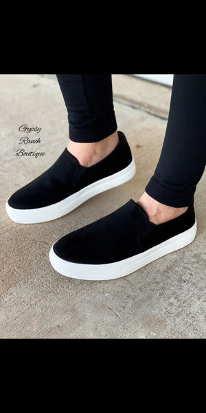 Lambert Black Slip on Shoes
