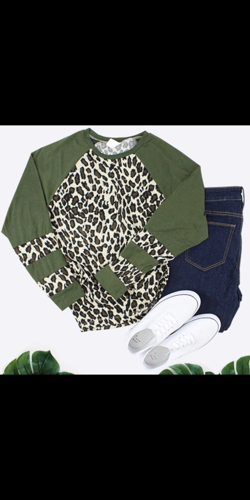 Bandera Olive Leopard Top - Also in Plus Size