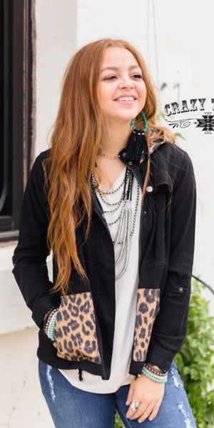 Call of the Wild Leopard Cargo Jacket - Also in Plus Size