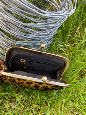 Leopard Hair On Hide Coin Pouch
