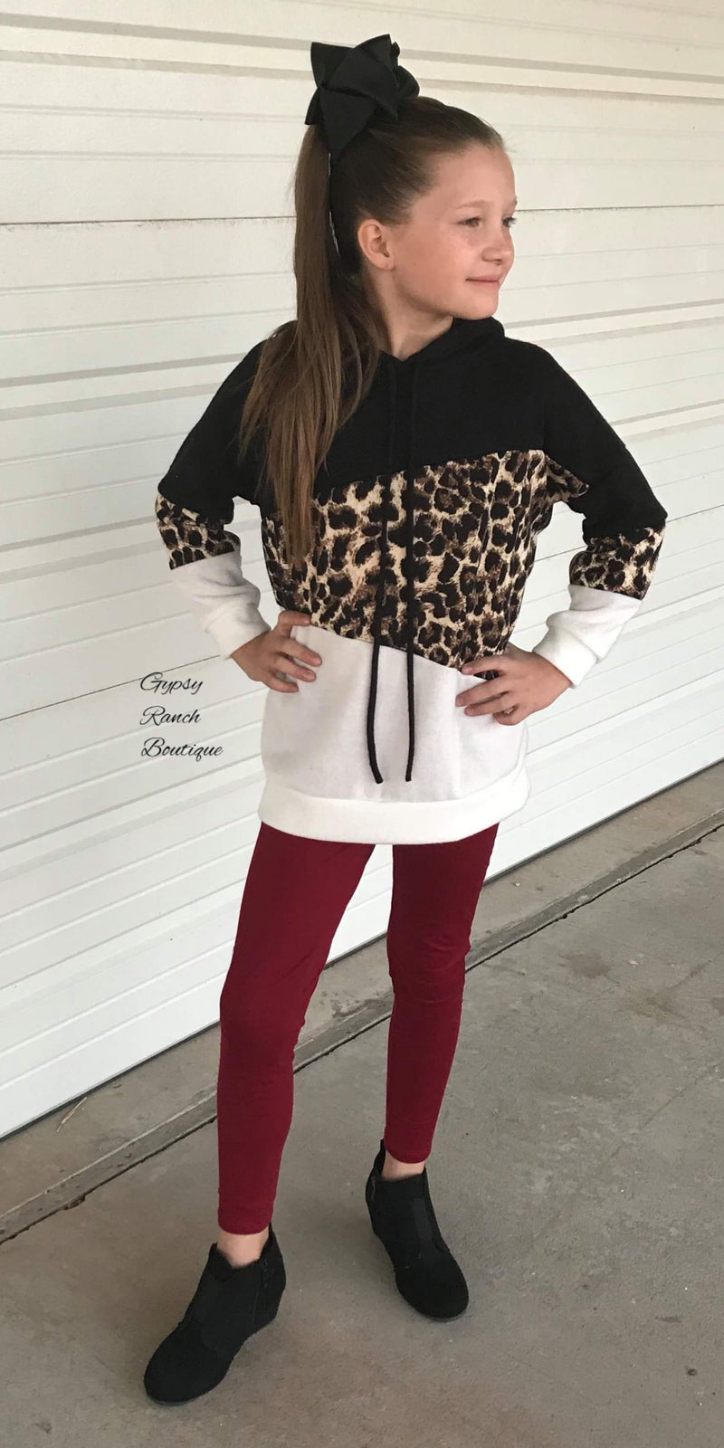 Madeline Leopard Hooded Top