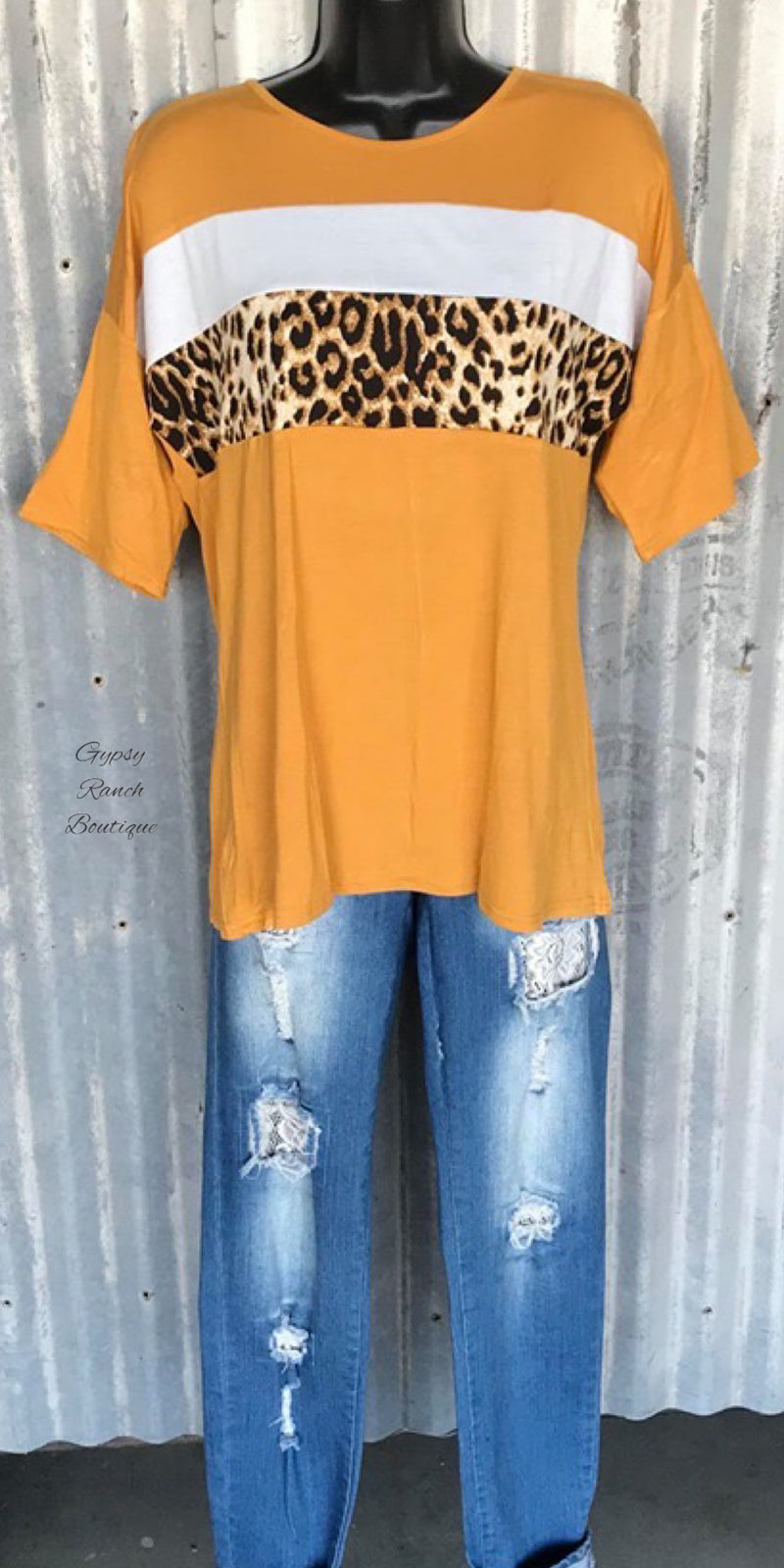 Turner Mustard Leopard Top - Also in Plus Size