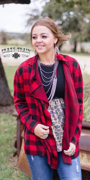 Perfect Plaid Cardigan - Also in Plus Size