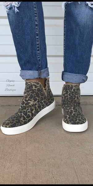 Harlem Leopard Frayed Shoes