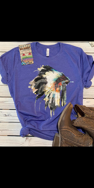 Watercolor Headdress Top - Also in Plus Size