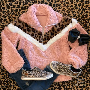 Sagan Leopard Pullover in Kids