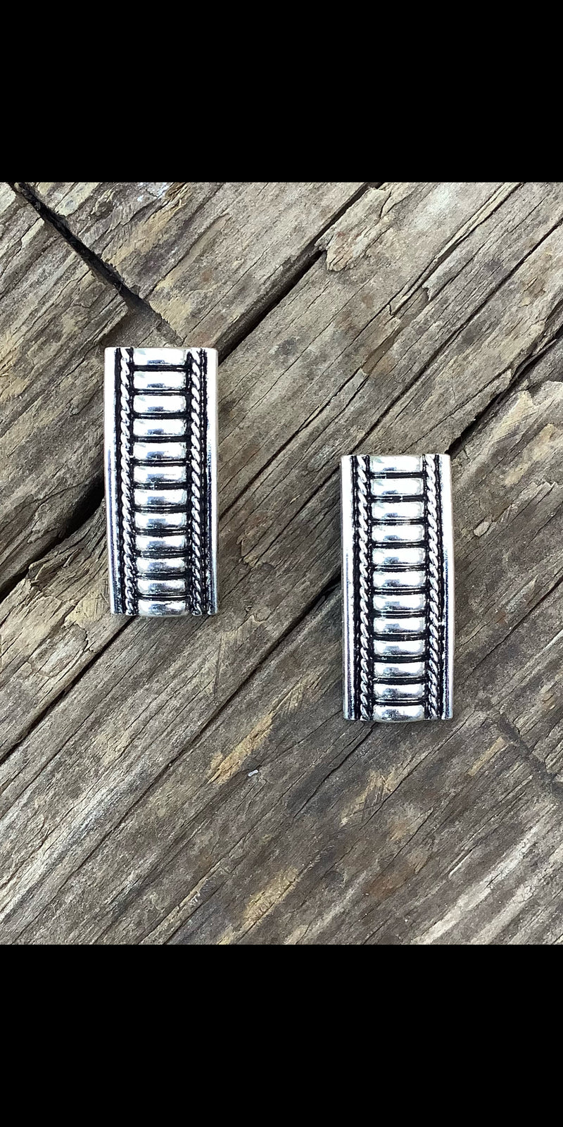 Gemma Silver Bar Earrings