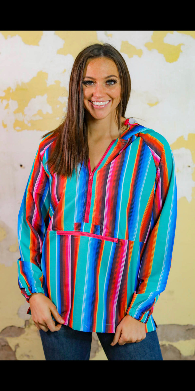 The Windy City Serape Windbreaker - Also in Plus Size