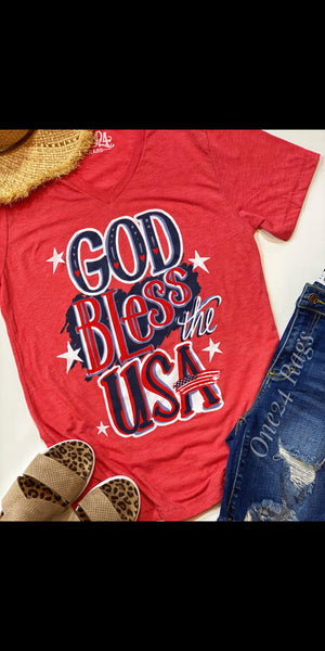 God Bless the USA Top - Also in Plus Size