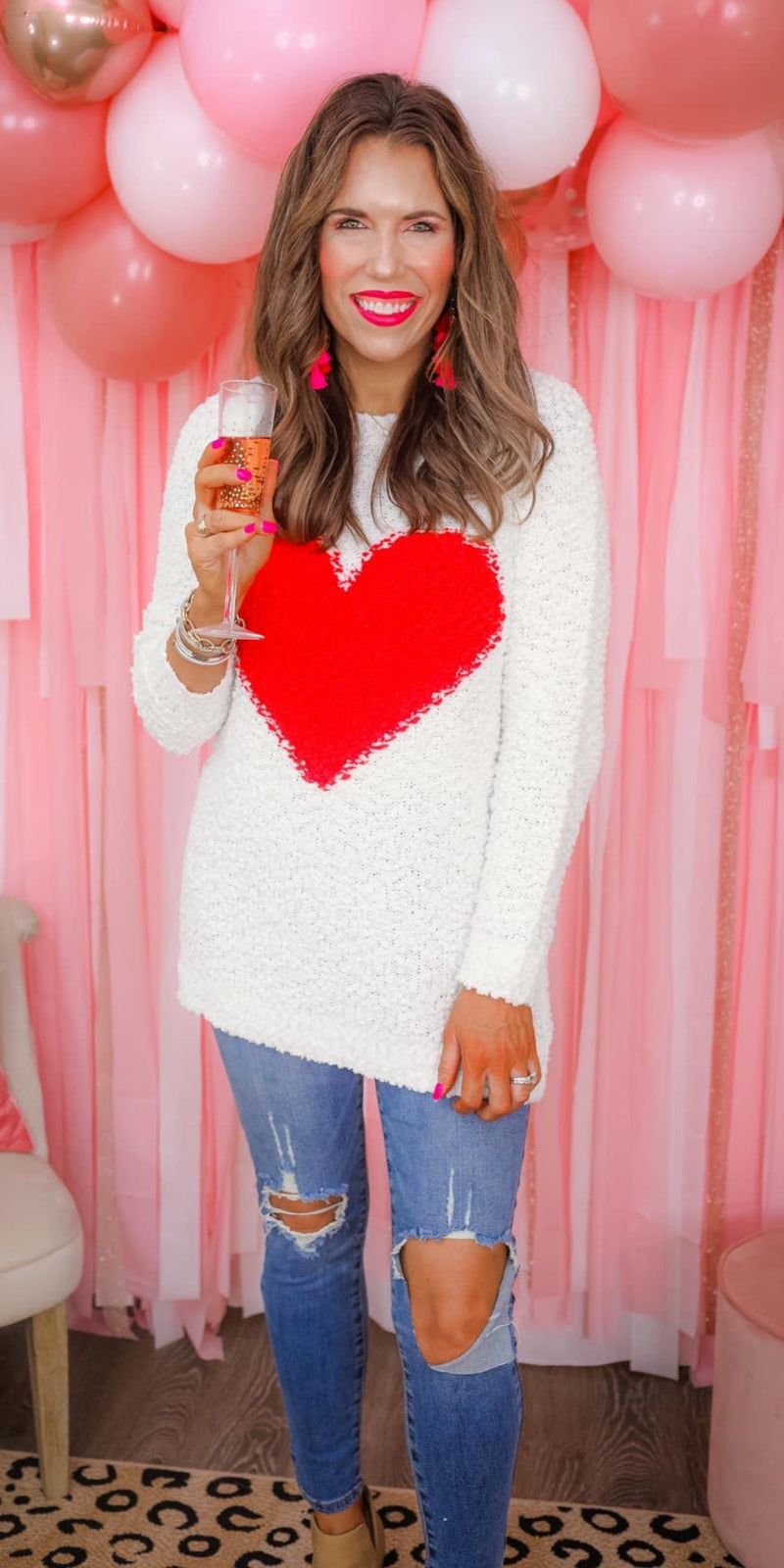 Scarlett Heart Sweater - Also in Plus Size