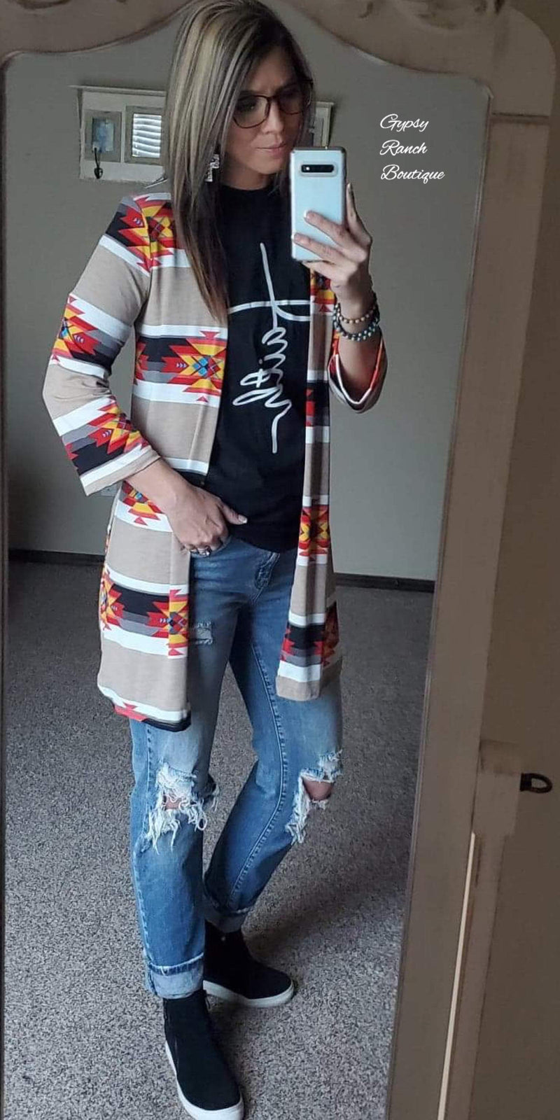 Wichita Tribal Cardigan - Also in Plus Size