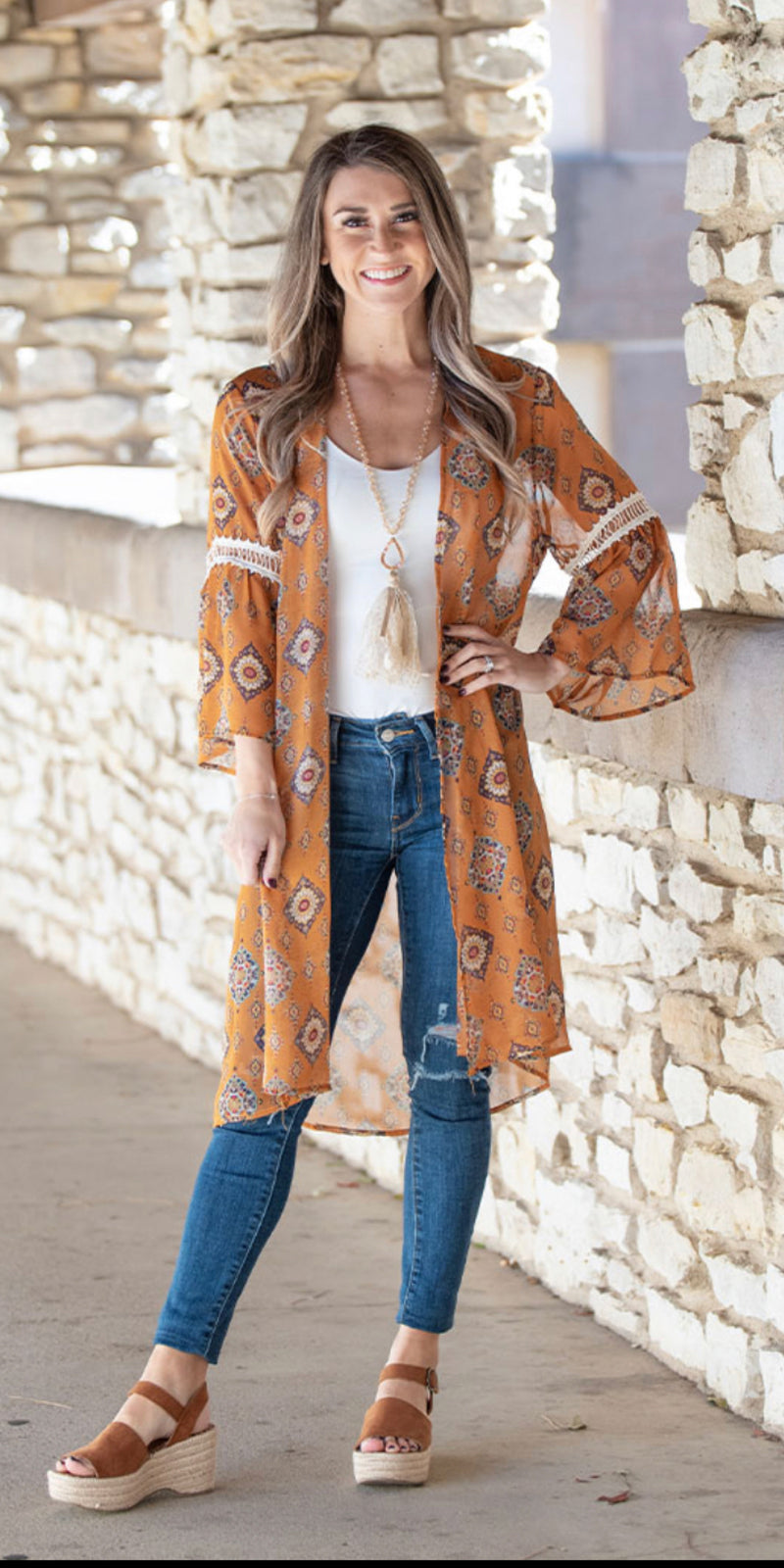 Drifting Together Bohemian Print Kimono - Also in Plus Size