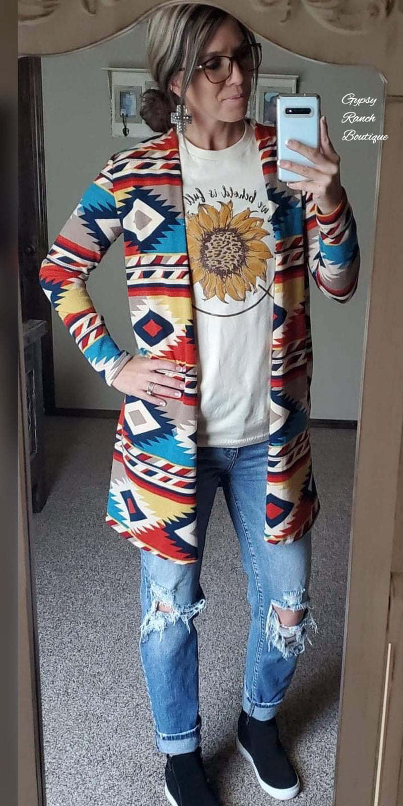 Uptown Tribal Cardigan  - Also in Plus Size
