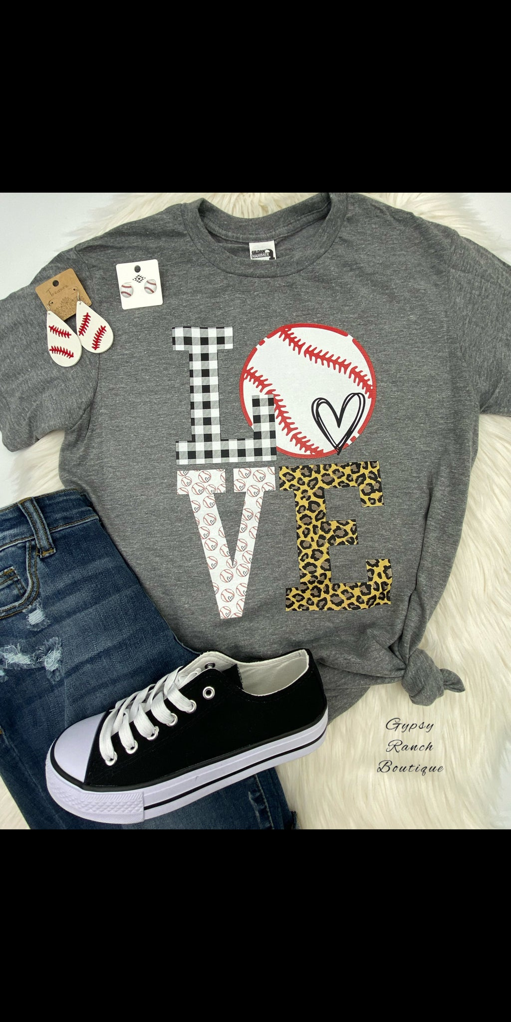 LOVE Baseball Top - Also in Plus Size