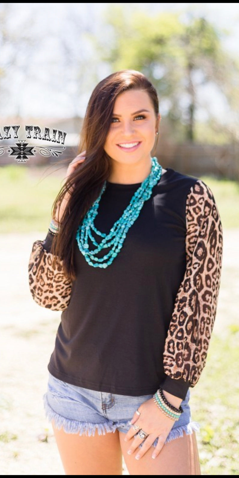 Dixie Delight Leopard Top -Also in Plus Size