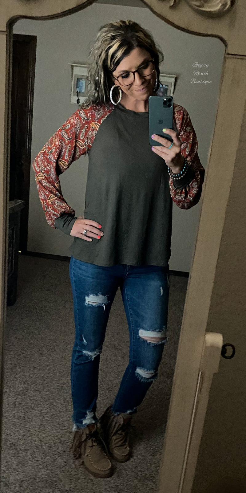 Pyper Paisley Top - Also in Plus Size