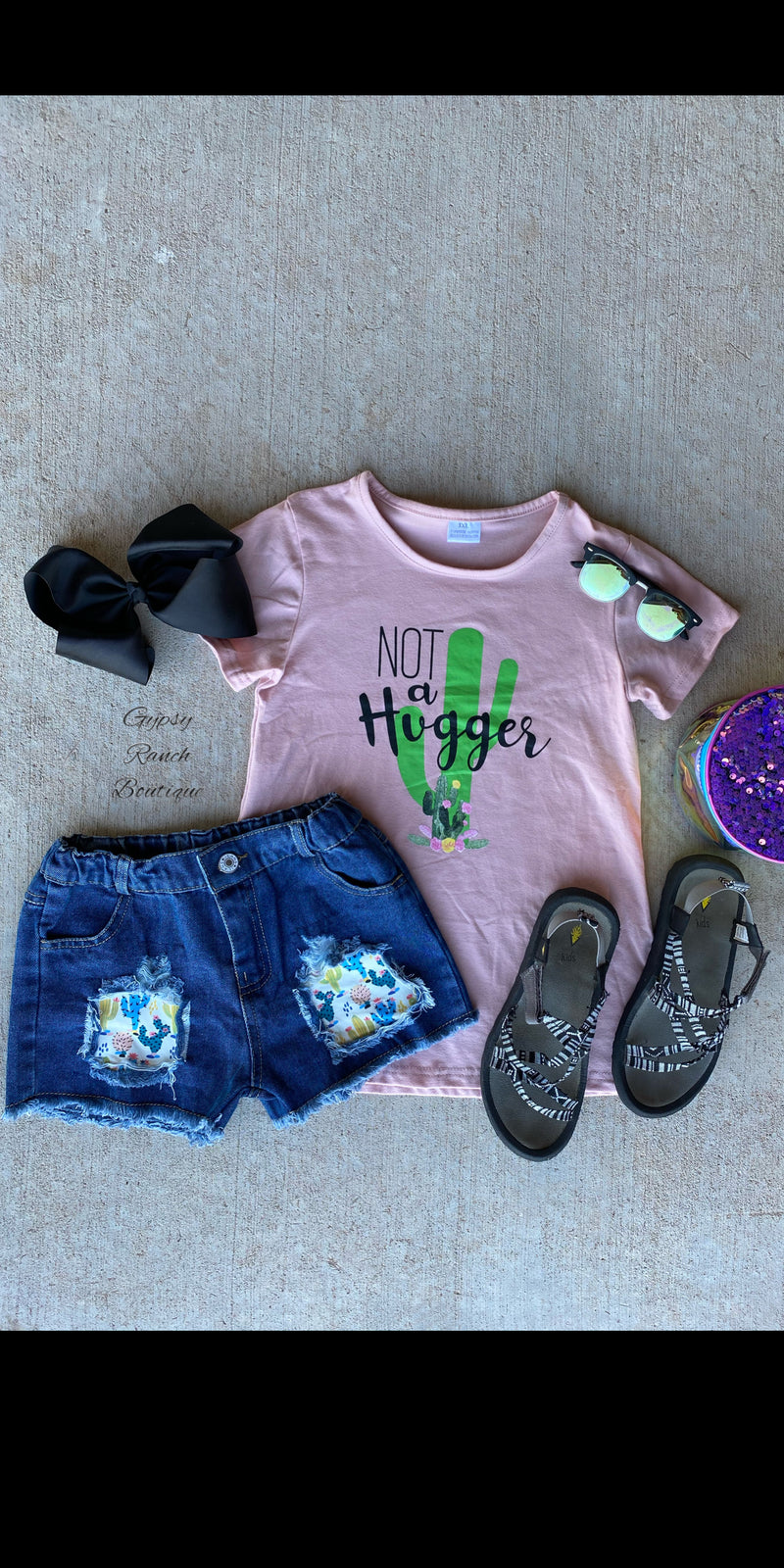Cactus Not A Hugger Top & Short Set - Kids