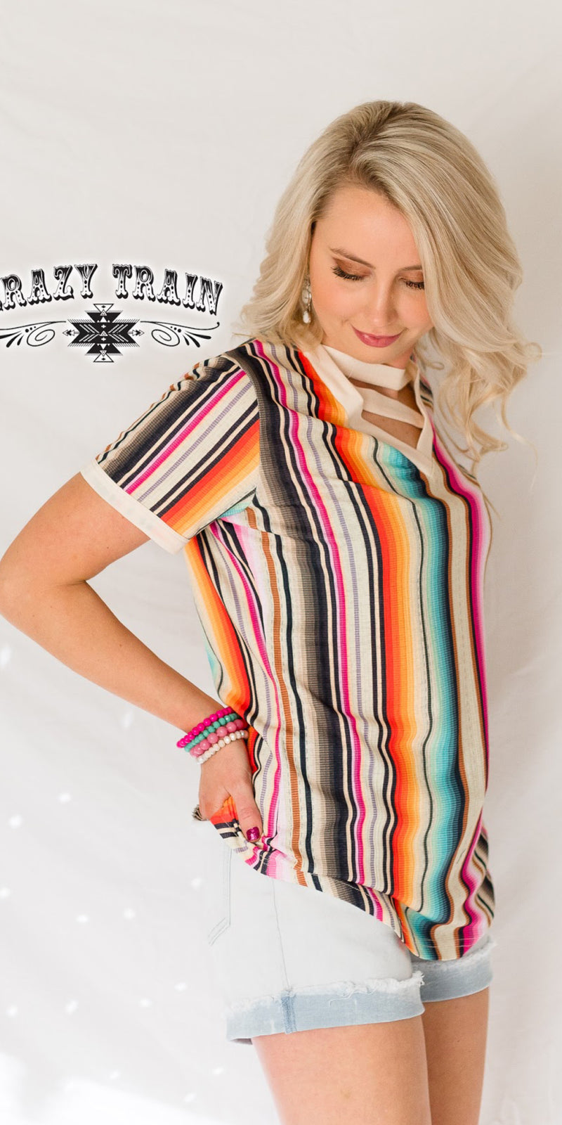 Crazy in my Soul Serape Top - Also in Plus Size