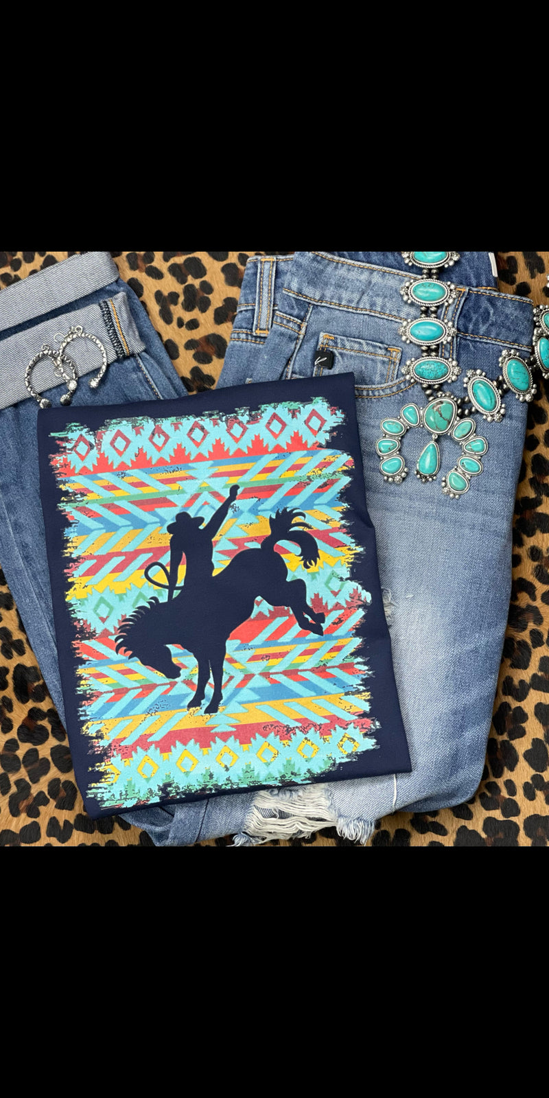 Bronc Buster Aztec Top - Also in Plus Size