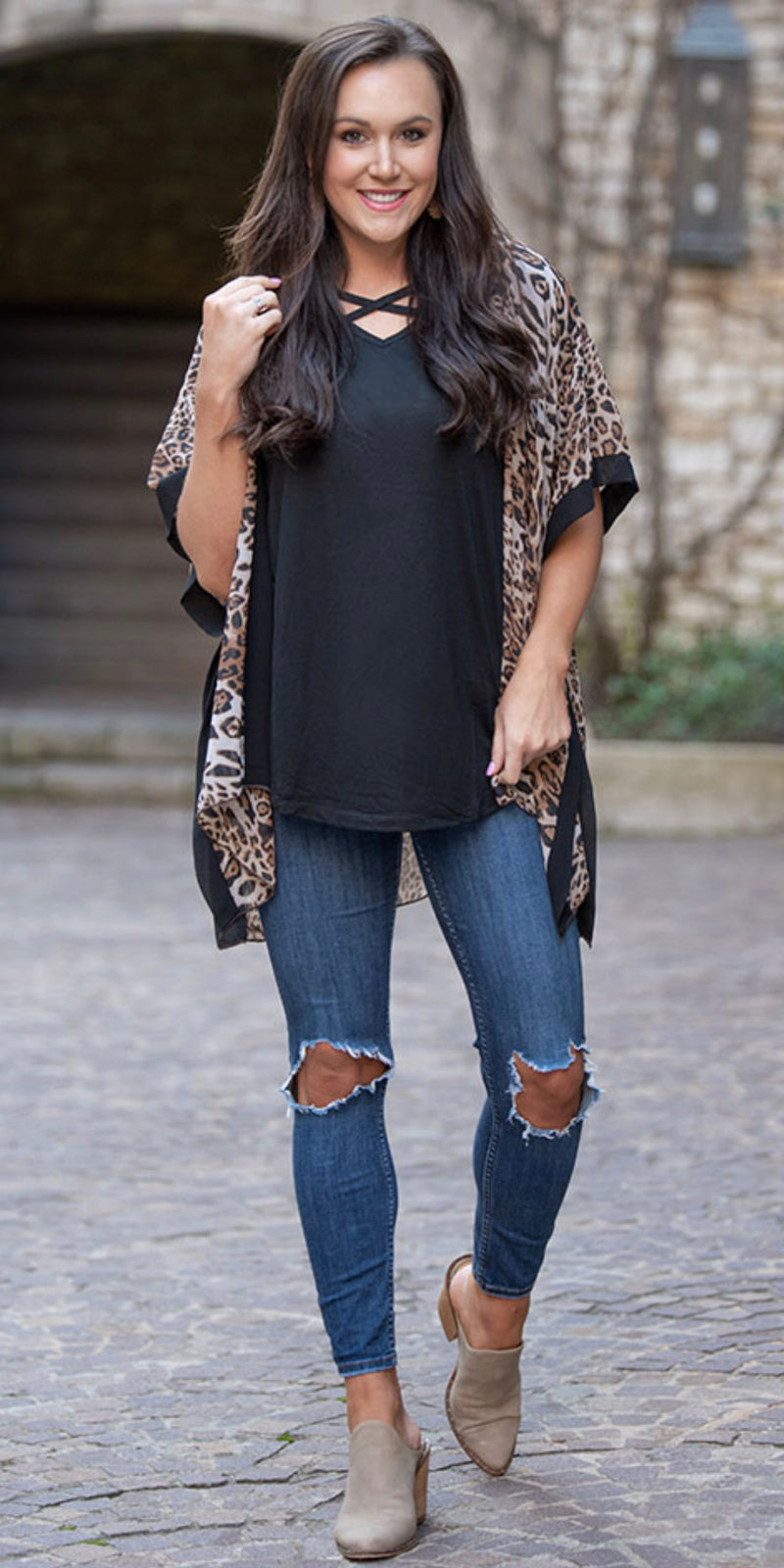 Wild Card Leopard Cardigan Kimono - Also in Plus Size