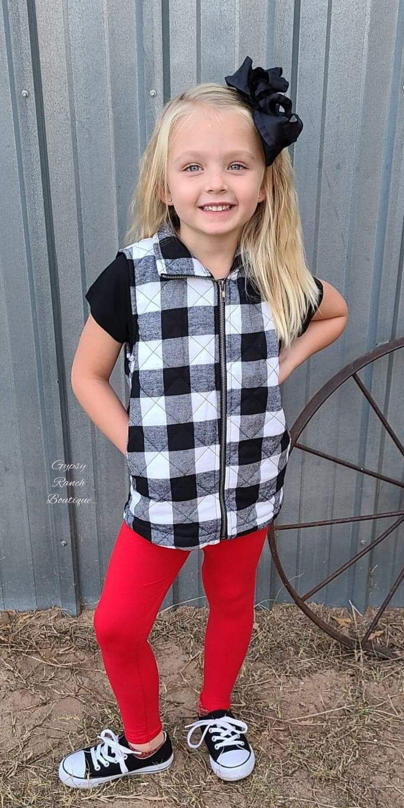 Kids Clovis Buffalo Plaid Vest