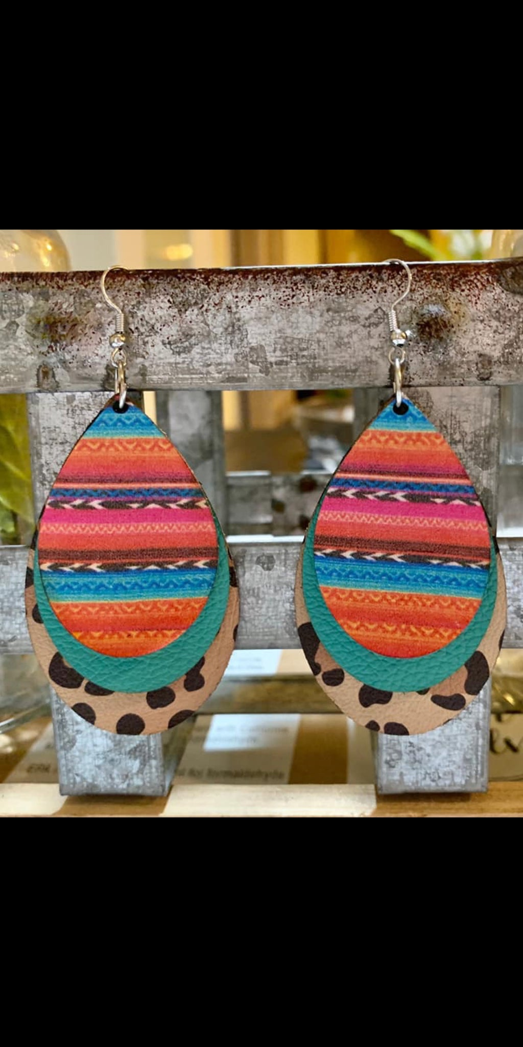 Rowley Serape Leopard Earrings