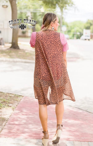 Spot on Leopard Vest-Also in Plus Size